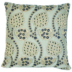 Schumacher Persephone Celestial Two-Sided Cotton Linen Pillow