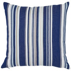 Schumacher Ponderosa Stripe Blue Two-Sided Indoor/Outdoor Pillow