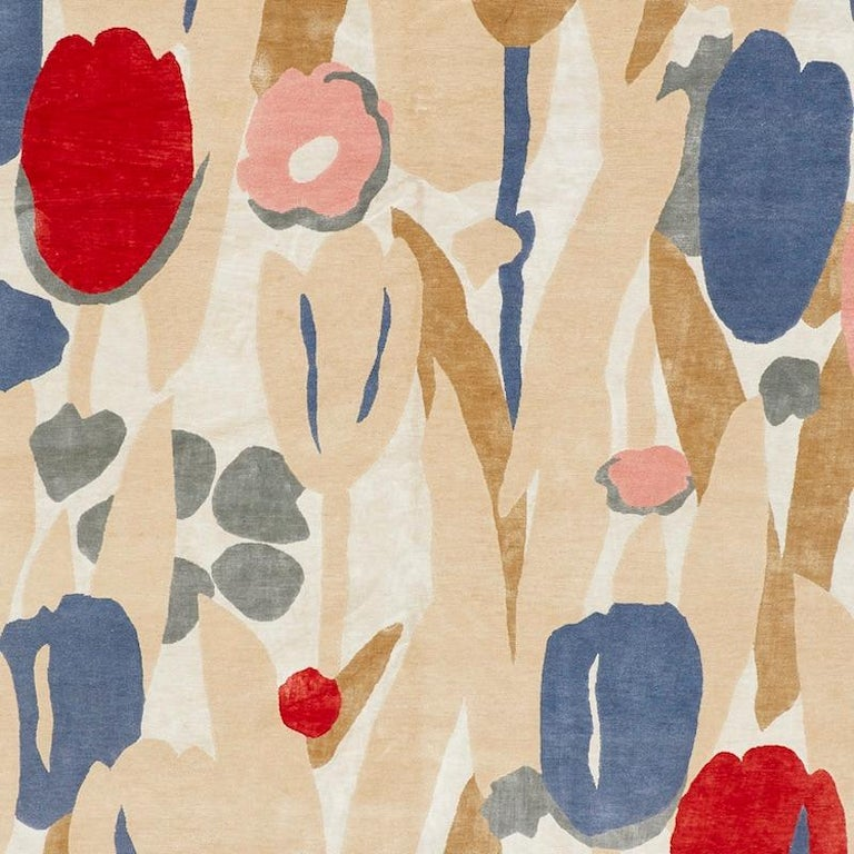 Nepalese Schumacher Promenade De Printemps Grande Wool Area Rug by Patterson Flynn Martin For Sale