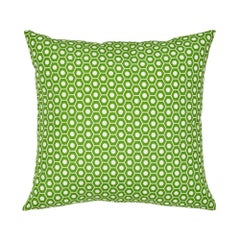 Schumacher Queen B II Green Indoor/Outdoor Pillow