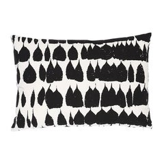 "Schumacher Queen of Spain Mid-Century Black & White 20"" Lumbar Pillow"