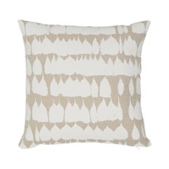Schumacher Queen of Spain Natural Cotton Two-Sided Pillow