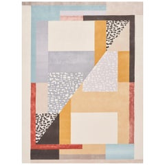 Schumacher Ratio Area Rug in Hand-Tufted Wool Silk by Patterson Flynn Martin