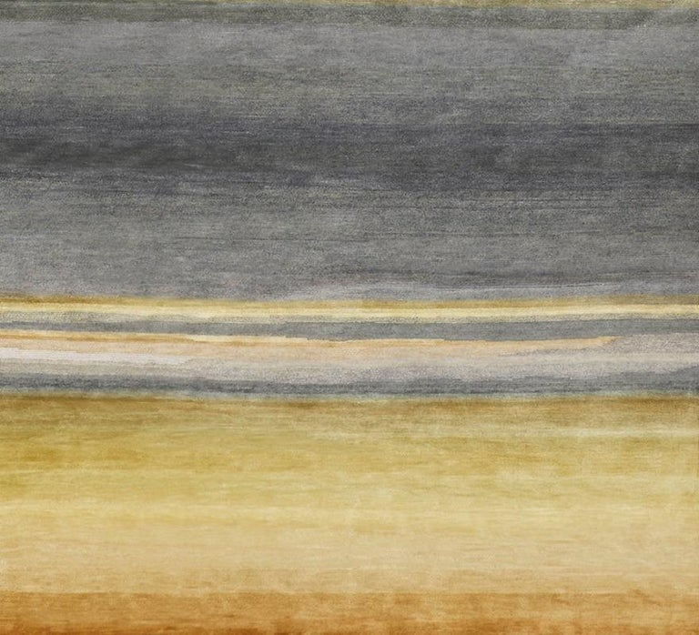 Modern Schumacher Resonance Area Rug in Hand-Knotted Wool by Patterson Flynn Martin For Sale