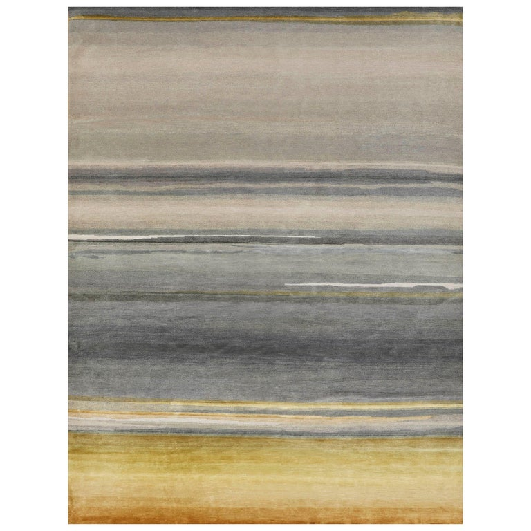 Schumacher Resonance Area Rug in Hand-Knotted Wool by Patterson Flynn Martin For Sale