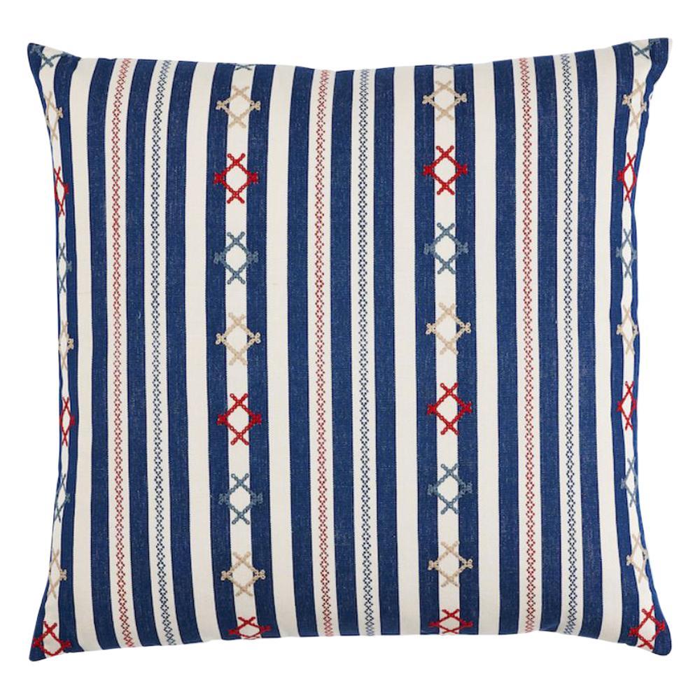 """Schumacher Rhodes Stripe 22"""" Pillow"""