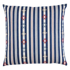 "Schumacher Rhodes Stripe 22"" Pillow"
