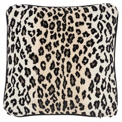 Schumacher Safari Epingle Snow Leopard Cotton Two-Sided Pillow