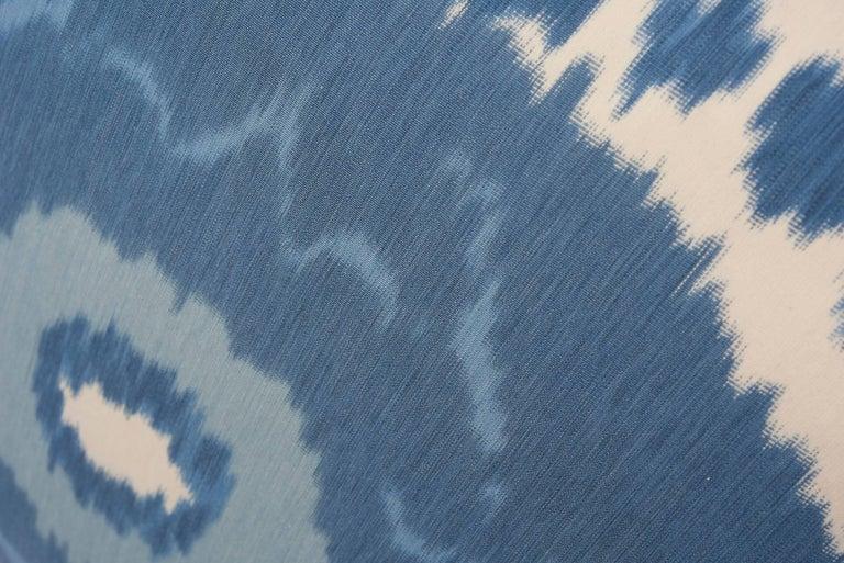 Swiss Schumacher Samarkand Ikat II Porcelain Blue Two-Sided 20