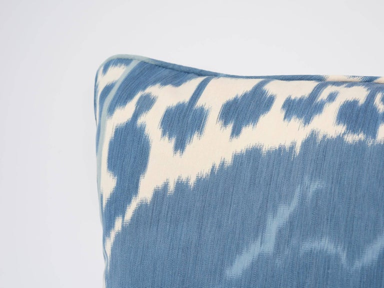 Schumacher Samarkand Ikat II Porcelain Blue Two-Sided 20