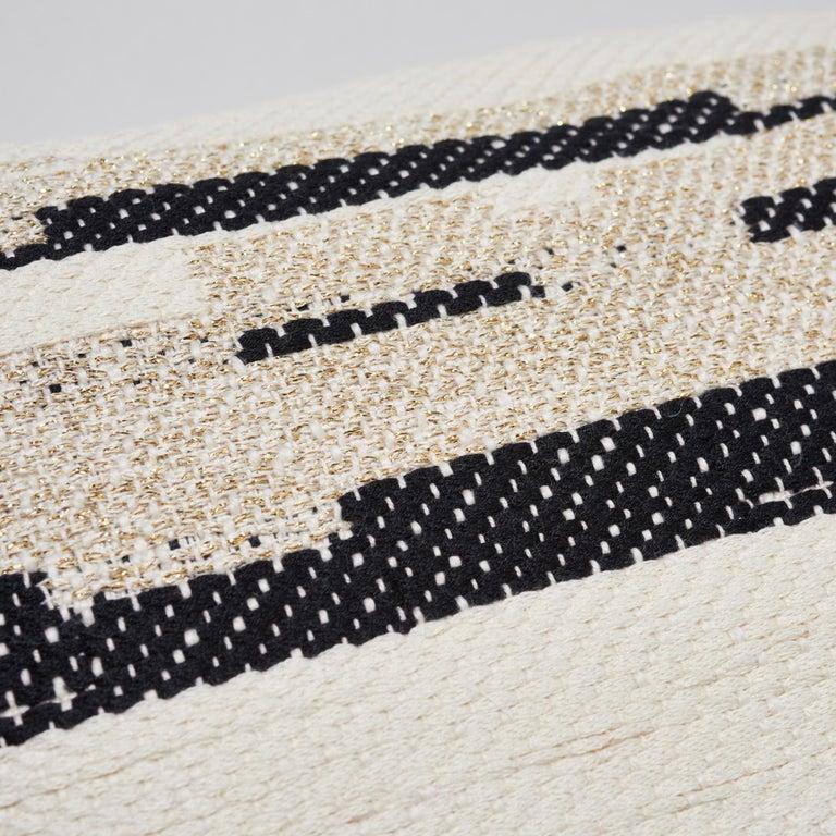 Modern Schumacher Sambar Black Gold Two-Sided Pillow For Sale