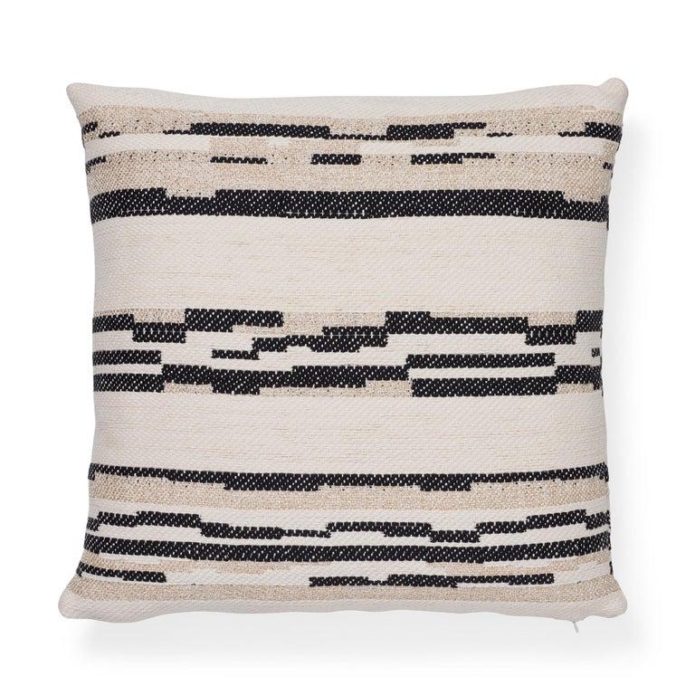Turkish Schumacher Sambar Black Gold Two-Sided Pillow For Sale