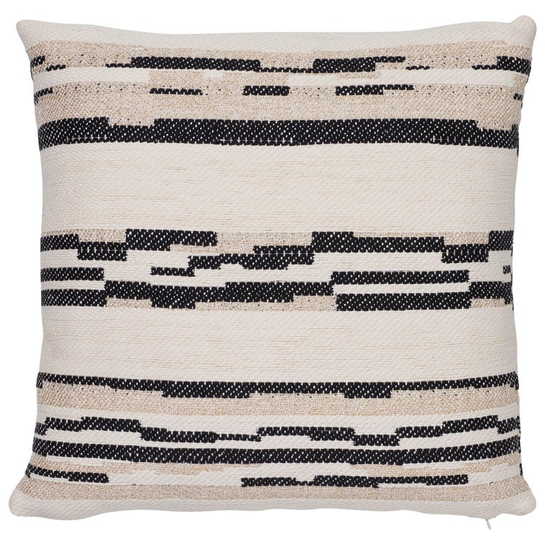 Schumacher Sambar Black Gold Two-Sided Pillow For Sale