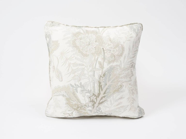 Based on a 19th century French Indienne print and reinterpreted on a fine linen ground, the all-over Sandoway Vine floral motifs are graphic yet delicate. This Schumacher Classic design echoes paisley's exotic patterning. Featured as a decorative