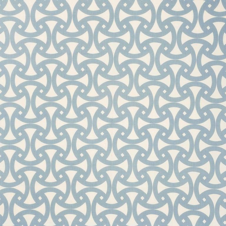 Schumacher Santorini Indoor/Outdoor Geometric Marine Blue Two-Sided 18