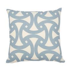 Schumacher Santorini Indoor/Outdoor Sky Two-Sided Pillow
