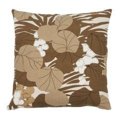 Schumacher Sea Grape Bark Two-Sided Cotton Pillow
