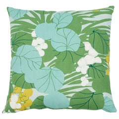 Schumacher Sea Grapes Palm Two-Sided Cotton Pillow