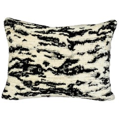 Schumacher Serengeti Tigre Blanc Two-Sided Chenille Lumbar Pillow