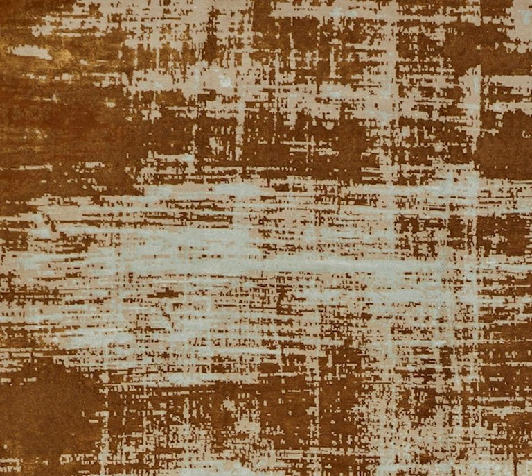 Rugs and floor coverings  Rug pattern: Sherab Dimensions: 9' x 12' Fiber content: Wool & Silk Construction: Hand-Knotted Color way: Sky Rust  Since Schumacher was founded in 1889, our family-owned company has been synonymous with style, taste, and