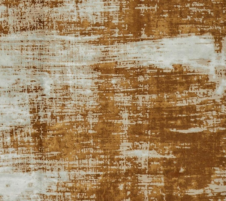 Modern Schumacher Sherab Area Rug in Hand-Knotted Wool & Silk by Patterson Flynn Martin For Sale