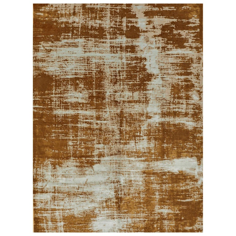 Schumacher Sherab Area Rug in Hand-Knotted Wool & Silk by Patterson Flynn Martin For Sale