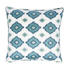 """Schumacher Sikar Embroidery 20"""" Pillow"""