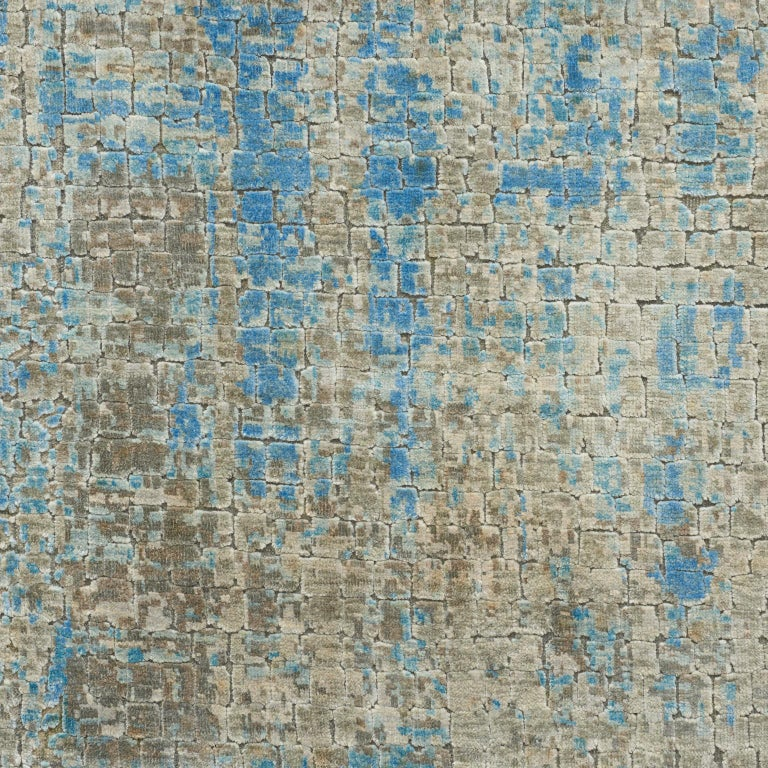 Rugs and floor coverings  Rug pattern: Midday Dimensions: 6' x 9' Fiber content: Wool & Silk Construction: Hand-Knotted Color way: Blue Sky  Since Schumacher was founded in 1889, our family-owned company has been synonymous with style, taste, and