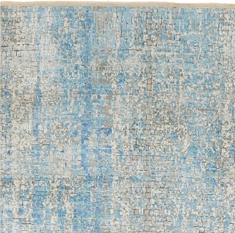 Modern Schumacher Small Midday Rug in Hand-Knotted Wool by Patterson Flynn Martin For Sale