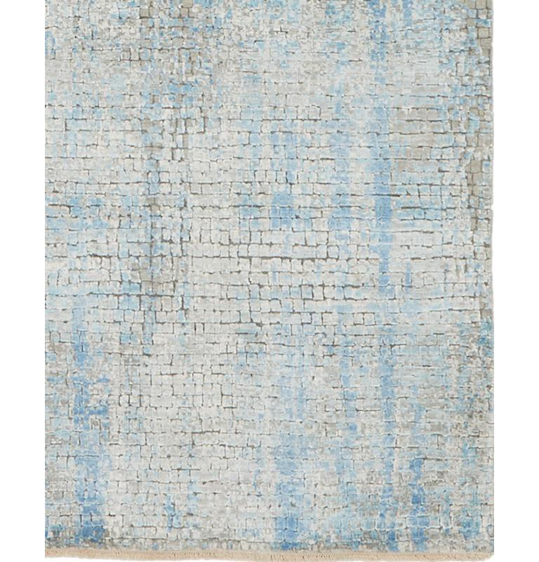 Indian Schumacher Small Midday Rug in Hand-Knotted Wool by Patterson Flynn Martin For Sale