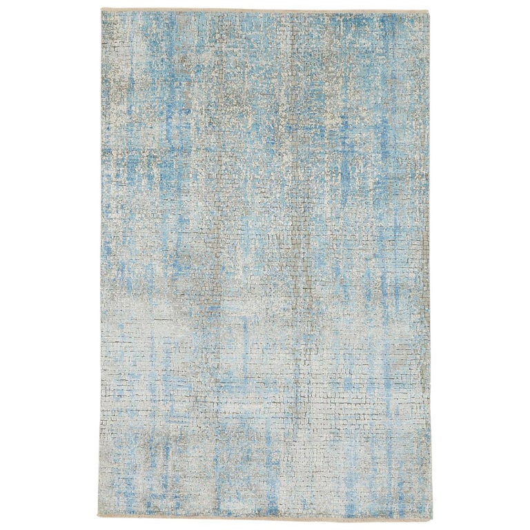 Schumacher Small Midday Rug in Hand-Knotted Wool by Patterson Flynn Martin For Sale