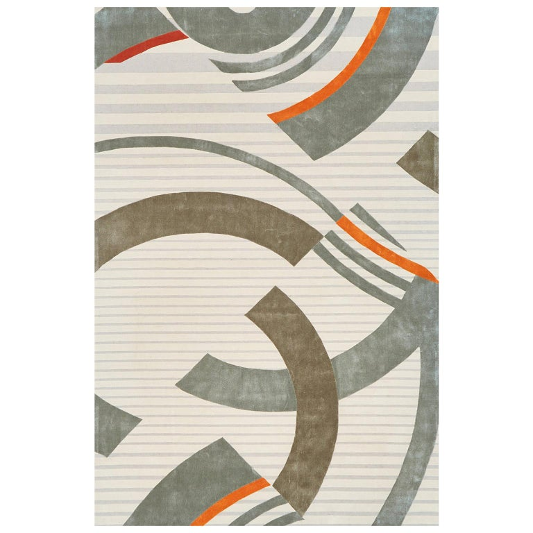 Schumacher Small Stork Club Rug in Hand-Tufted Wool by Patterson Flynn Martin For Sale