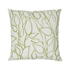 Schumacher Solandra Vine Leaf Linen Cotton Two-Sided Pillow