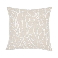 Schumacher Solandra Vine Natural Linen Cotton Two-Sided Pillow