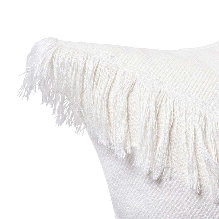 Modern Schumacher Sonora Ivory Chevron Two-Sided Pillow  For Sale