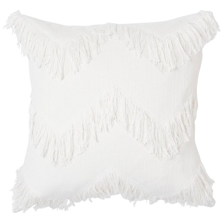 Schumacher Sonora Ivory Chevron Two-Sided Pillow  For Sale