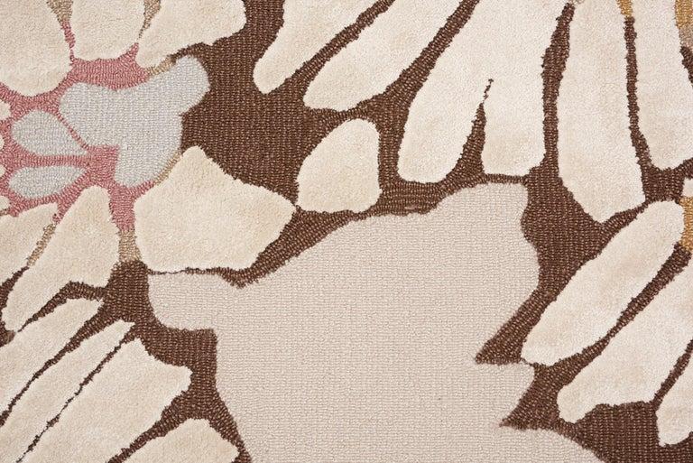 Modern Schumacher Spiffy Area Rug in Hand-Tufted Wool Silk, Patterson Flynn Martin For Sale