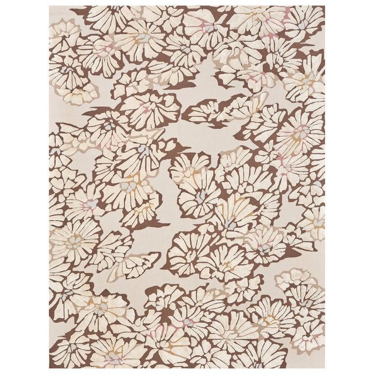 Schumacher Spiffy Area Rug in Hand-Tufted Wool Silk, Patterson Flynn Martin For Sale