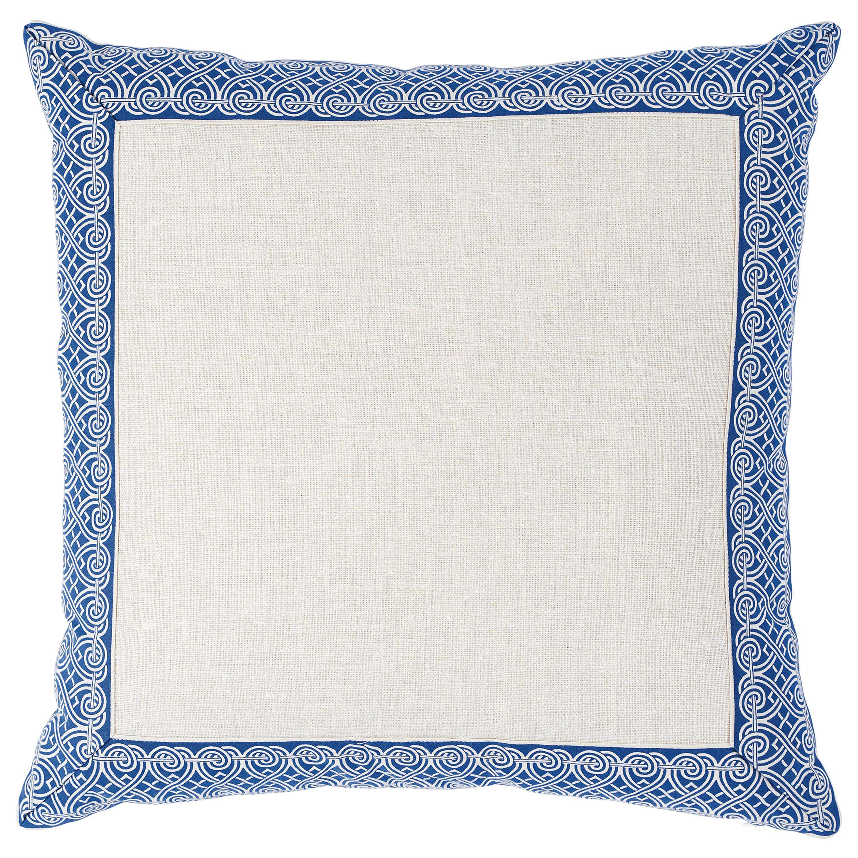Schumacher Suzette Pillow in Navy