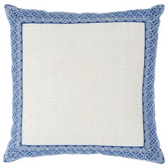 Schumacher Suzette Pillow in Navy