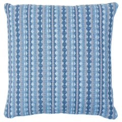 Schumacher Tarnby Stripe Pillow in Sky