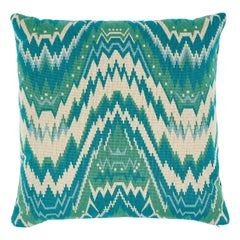 Schumacher Tauride Epingle Pillow in Peacock