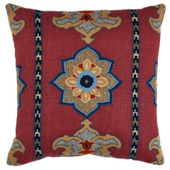 "Schumacher Temara Embroidered 22"" Pillow"