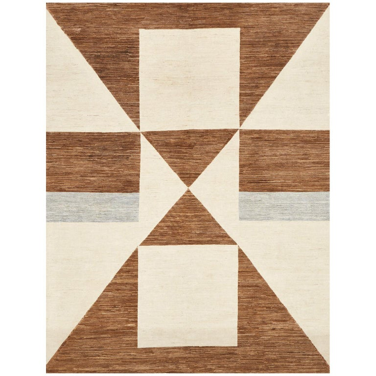 Schumacher Tenaya Area Rug in Hand-Knotted Wool by Patterson Flynn Martin For Sale
