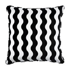 "Schumacher The Wave 20"" Pillow in Black"