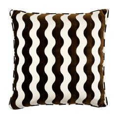 "Schumacher The Wave 20"" Pillow in Chocolate"