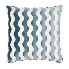 "Schumacher The Wave 20"" Pillow in Sky"
