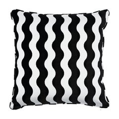 "Schumacher The Wave 22"" Pillow in Black"