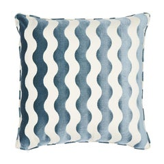 "Schumacher The Wave 22"" Pillow in Sky"