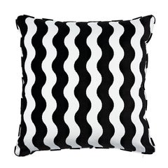 "Schumacher The Wave 24"" Pillow in Black"